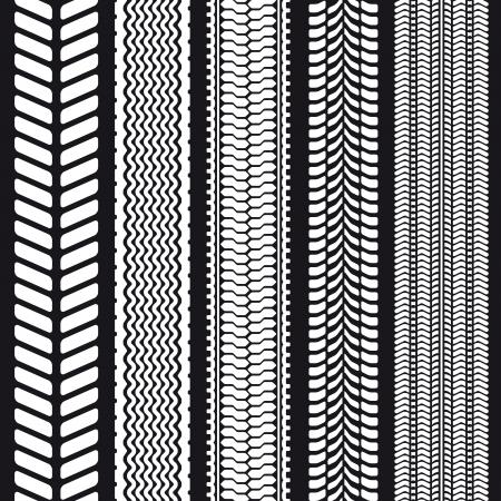 Reeks van vijf loopvlakken. Naadloze textuur. Vector illustratie. Stock Illustratie