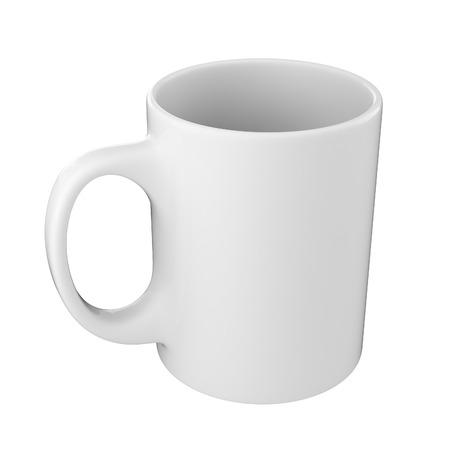 Witte mok geïsoleerd op een witte achtergrond Stockfoto - 29875446