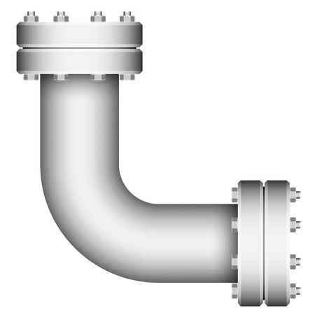 conduit: Pipe corner element isolated on a white background