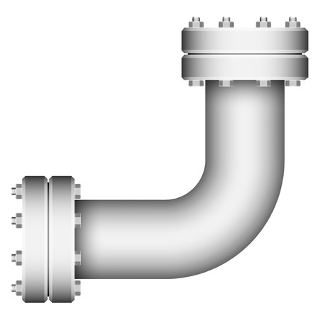 Pipe corner element isolated on a white background