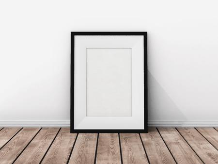 Foto frame op de muur Stockfoto