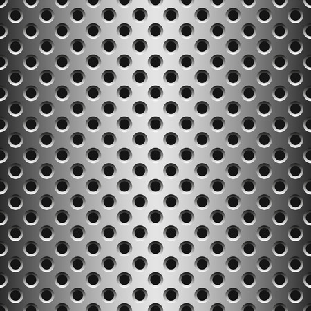 holes: Seamless texture of metal with holes Illustration