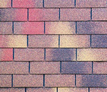 asphalt shingles: Roof texture. Shingle roof. Stock Photo