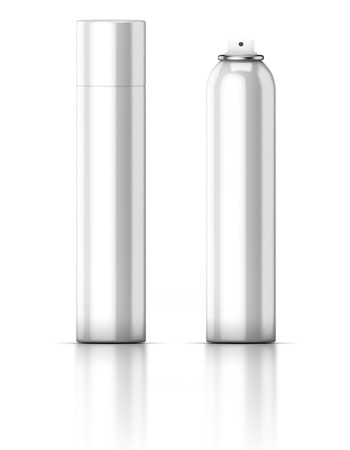 hairspray: White tube isolated on a white background. Deodorant. Hairspray. Spray.