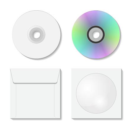 cd case: CD caso aislado en el fondo blanco. Ilustraci�n del vector.