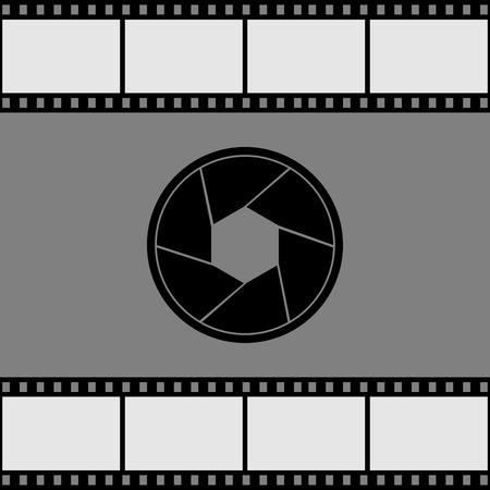 photographic film: Aperture tripod. Vector illustration.