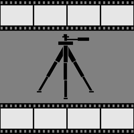 Icon statief. Vector illustratie.