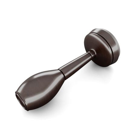 validez: sello de goma redonda de madera aislada sobre fondo blanco. Las 3D.