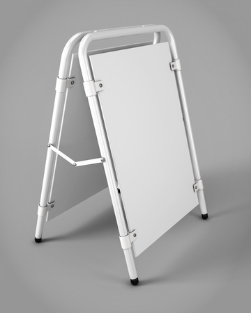 outdoor advertising: Outdoor advertising stands for your design. Promotional rack. 3d rendering Stock Photo