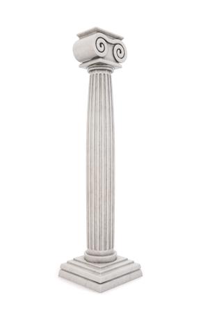 Single greek column isolated on white background. 3D illustration.