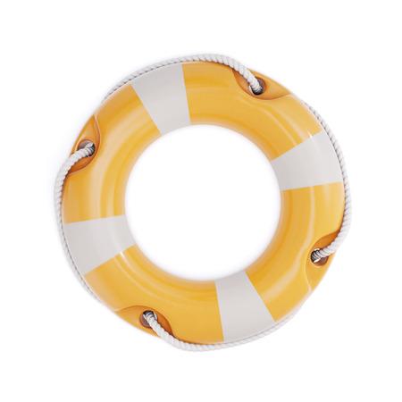 Lifebuoy isolated on a white background. 3d illustration. Stock Photo