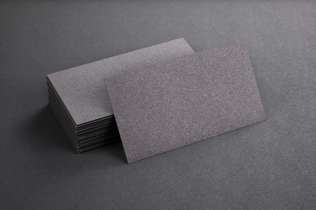 3d rendering of business card blank template black business stock