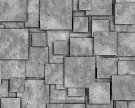 Graue Betonwand als Hintergrund oder Tapete. 3D-Rendering.