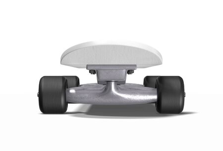 Skateboard on a white background. 3d rendering.