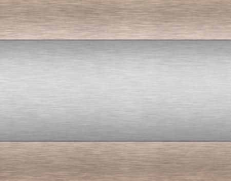 brushed aluminum: brushed  metallic background Stock Photo