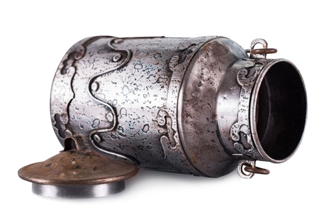 Vintage urn isolated on white