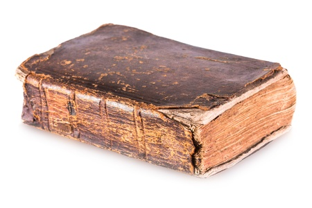 Old book isolated on a white background Archivio Fotografico
