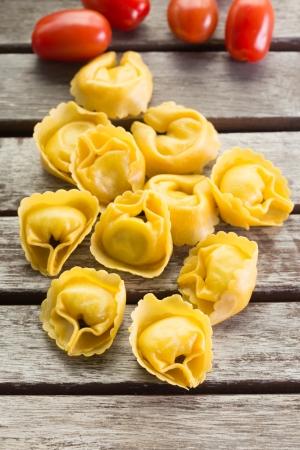 Homemade ravioli pasta on the table