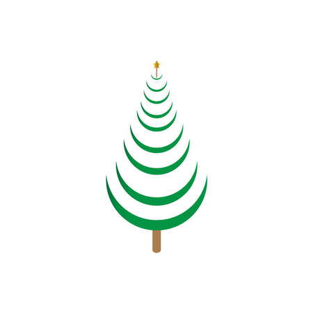 Cypress icon. Simple illustration of cypress vector icon for web. Vector isolated or white background