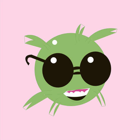 Funny cartoon jelly round characters, vector illustration, funny creatures kit for game design