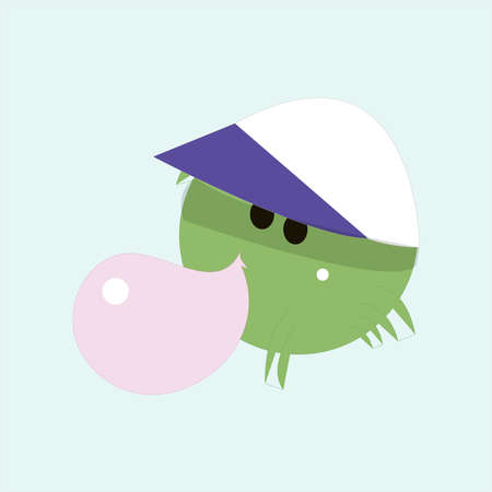 Funny cartoon jelly round characters, vector illustration, funny creatures kit for game design 向量圖像