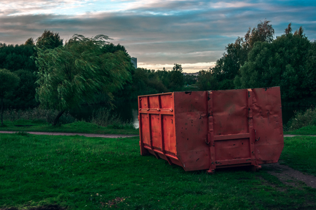 Garbage container in the park