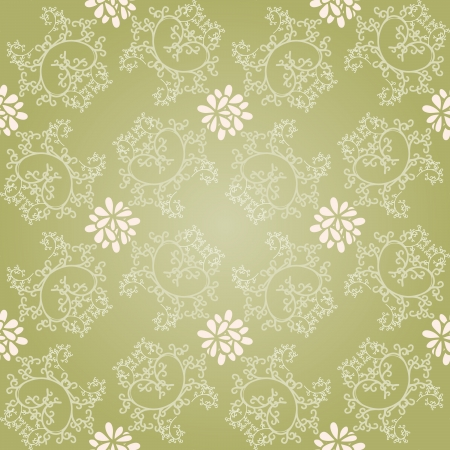 Seamless curly background like glossy green silk. Vector