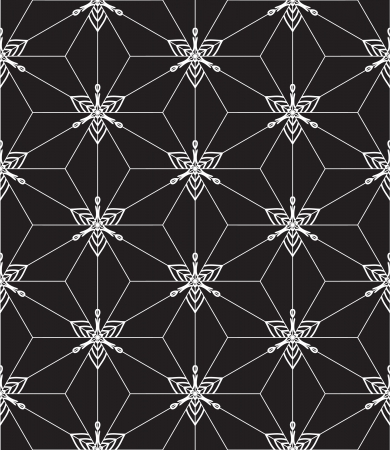 Seamless decorative graphic pattern in black and white. Vector