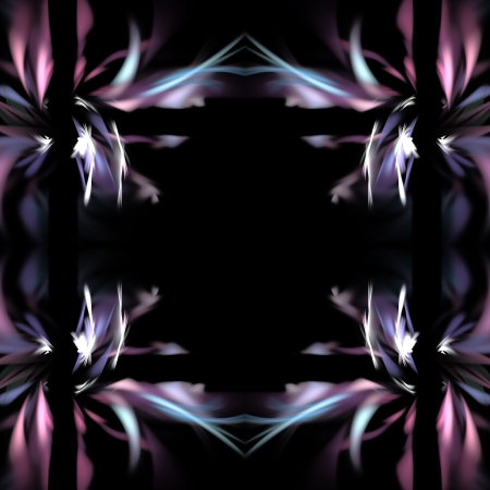 Abstract background with stylized decorative ornament looks like Aurora Borealis. photo