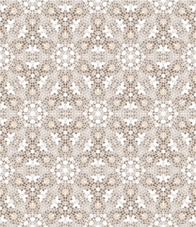 Seamless decorative mosaic kaleidoscopic background. Vector