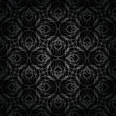 Elegant background with seamless graphic cobweb silver pattern. Vector