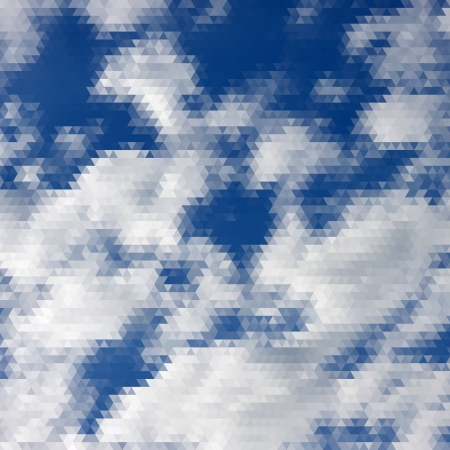 Clouds in the sky, abstract geometric background. Triangle pattern. Vector