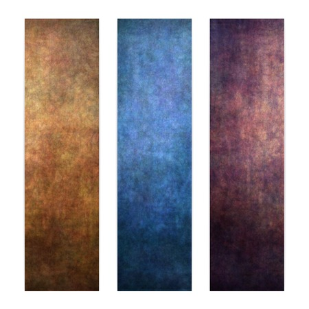 Set of three vertical banners, abstract textured background. photo
