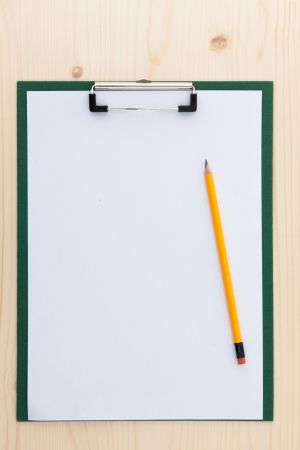 clipboard with blank paper photo