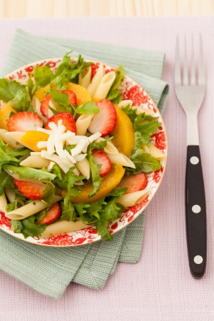 Strawberry, cheese Salad photo