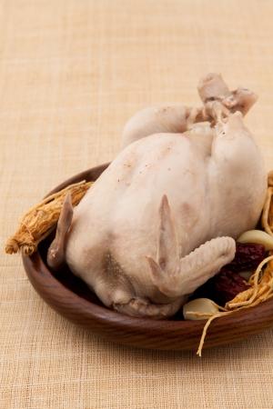 chicken soup: samgyetang ginseng chicken soup