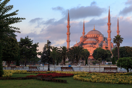 blue mosque: Blue mosque in red Stock Photo