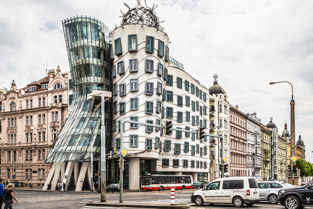 dancing house: dancing house Stock Photo