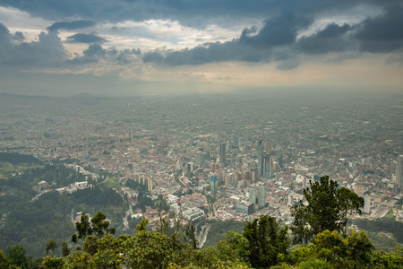 big sur: view from the top of the Monserrat mountain, Bogota, Colombia.