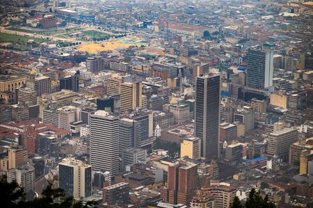 vue depuis le sommet de la montagne Monserrat, Bogota, Colombie.