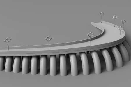 colonnade: Render 3d illustration architecture bridge Stock Photo