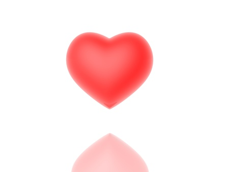 Red  heart on a white background Stock Photo - 12192058