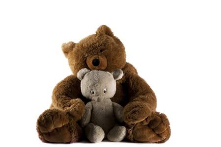 furry stuff: Two Teddy Bears Stock Photo