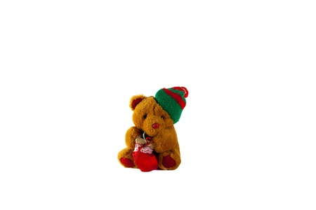 jovial: Light Brown Teddy Bear with a Gift