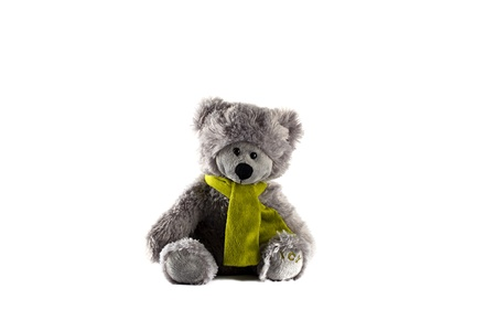 stuff toys: Grey Teddy Bear Stock Photo