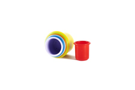 Colored toy buckets photo