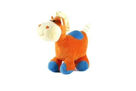 Orange toy horse
