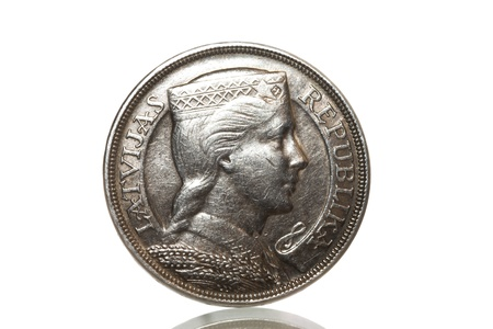 Silver coin 1929 year photo
