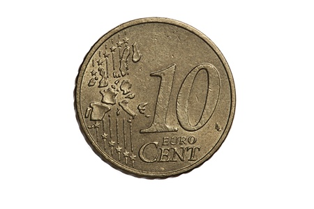 Ten-cent euro coin photo