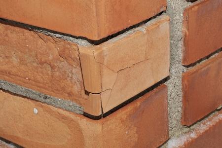 crumbling: Crumbling brick wall corner
